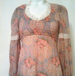 70s Hippie victorian inspired dress Lace N Roses